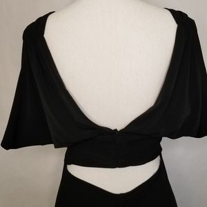 Moda International Dresses - Moda International Black Dress Open Back SZ Large